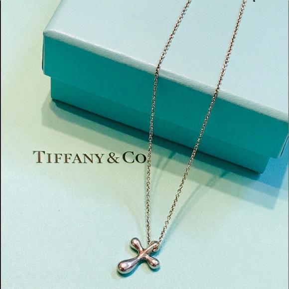 Tiffany & Co Elsa Peretti 925 Silver Cross Pendant